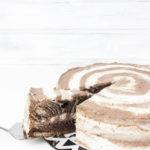 Eine einfache Schokosahne-Torte im Zebralook